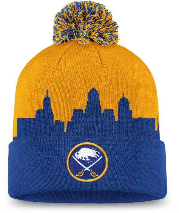 NHL Men's Buffalo Sabres Hometown Royal Pom Knit Beanie product image