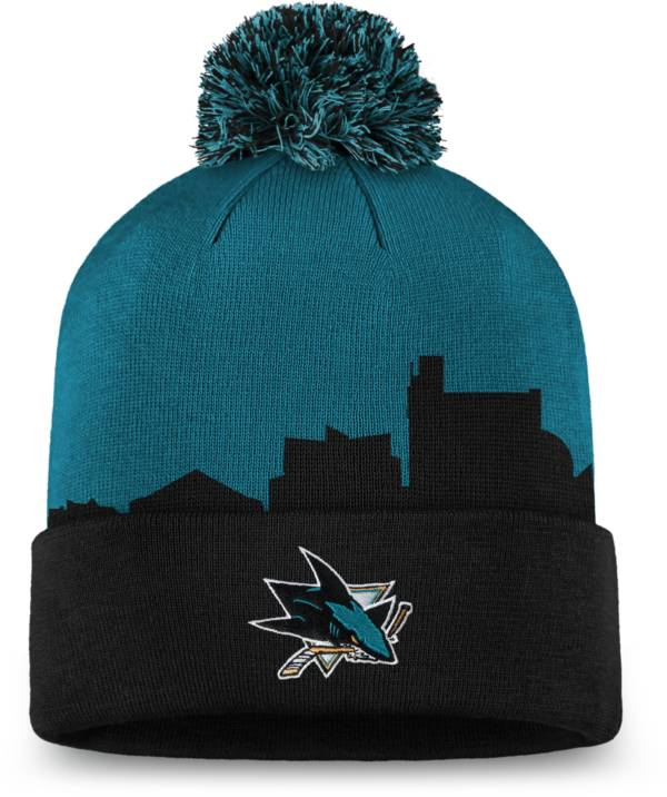 NHL Men's San Jose Sharks Hometown Black Pom Knit Beanie product image