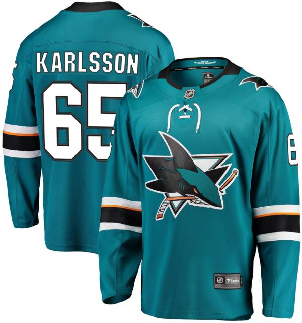 NHL Men's San Jose Sharks Erik Karlsson #65 Breakaway Home Replica Jersey product image