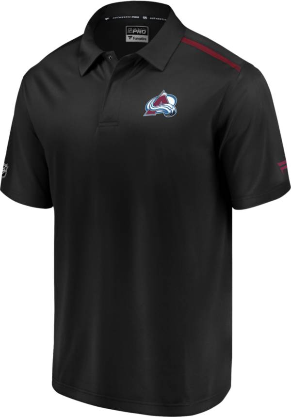 NHL Men's Colorado Avalanche Authentic Pro Rinkside Black Polo product image