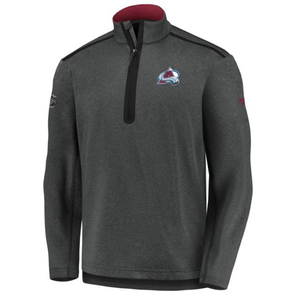 NHL Men's Colorado Avalanche Authentic Pro Gray Quarter-Zip Pullover product image