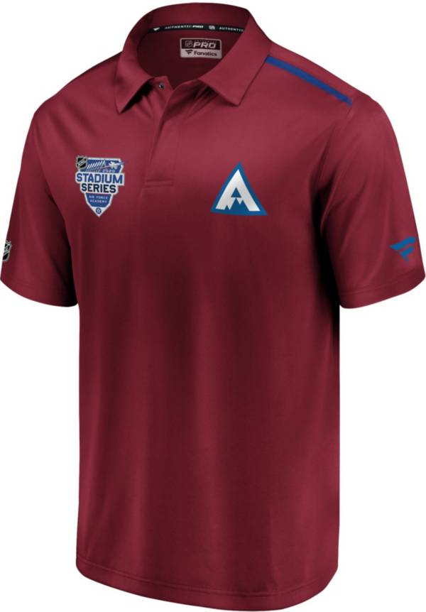 NHL Men's 2020 Stadium Series Colorado Avalanche Authentic Pro Maroon Polo product image