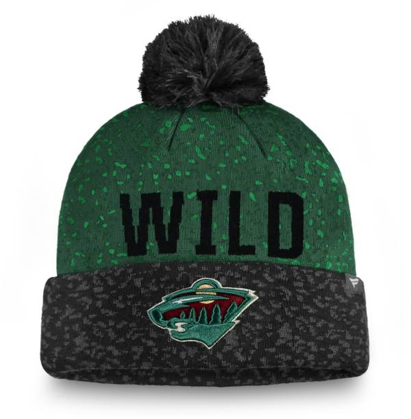 NHL Men's Minnesota Wild Fan Weave Pom Knit Beanie product image