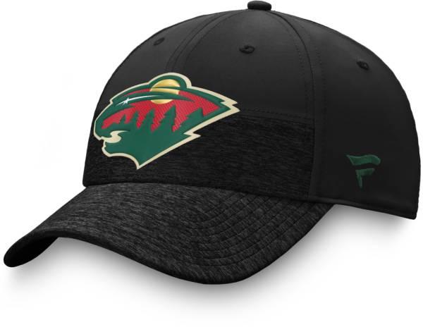 NHL Men's Minnesota Wild Authentic Pro Locker Room Black Flex Hat product image