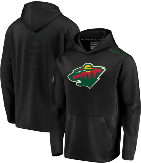 NHL Men's Minnesota Wild Authentic Pro Rinkside Fleece Black Pullover Hoodie product image