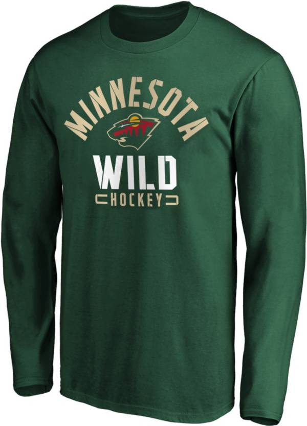 NHL Men's Minnesota Wild Battle Arc Green Long Sleeve Shirt product image