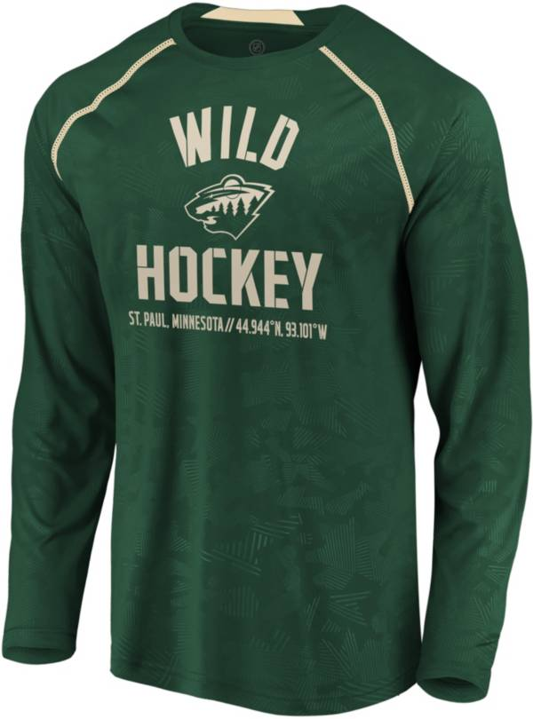 NHL Men's Minnesota Wild Destination Green Long Sleeve Shirt product image
