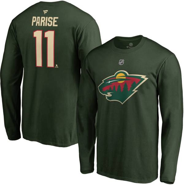 NHL Men's Minnesota Wild Zach Parise #11 Green Long Sleeve Player Shirt product image