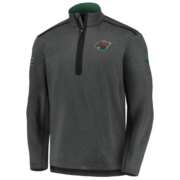 NHL Men's Minnesota Wild Authentic Pro Gray Quarter-Zip Pullover product image