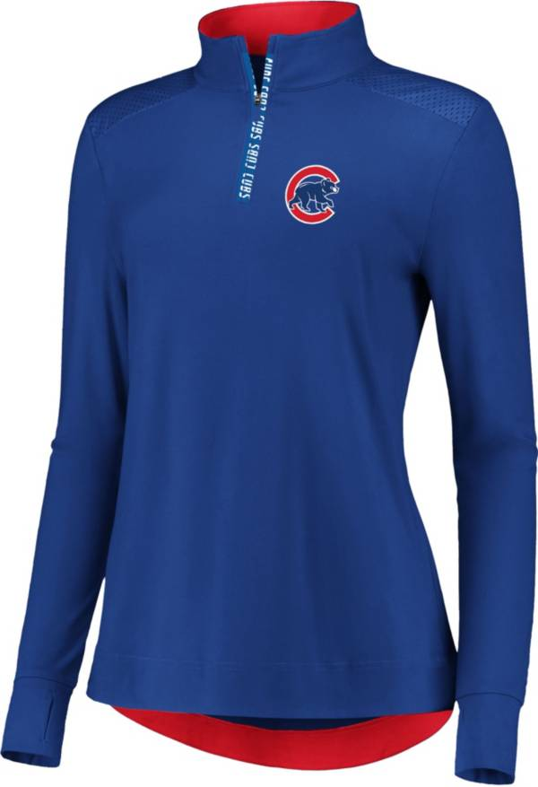 Fanatics Women's Chicago Cubs Royal Iconic Long Sleeve Quarter-Zip Shirt product image