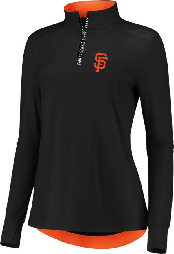 Fanatics Women's San Francisco Giants Black Iconic Long Sleeve Quarter-Zip Shirt product image