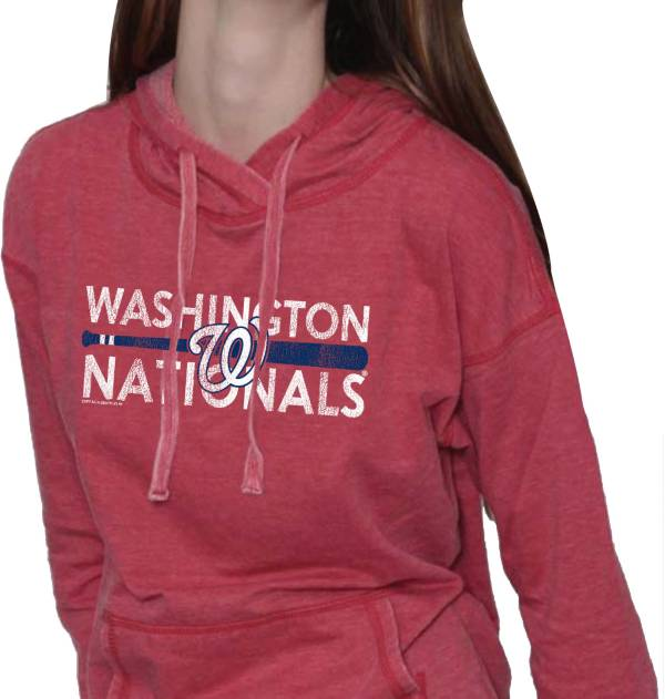 Soft As A Grape Women's Washington Nationals Red Pullover Fleece product image