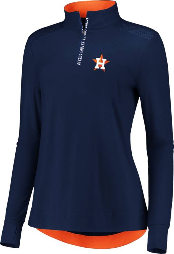 Fanatics Women's Houston Astros Navy Iconic Long Sleeve Quarter-Zip Shirt product image