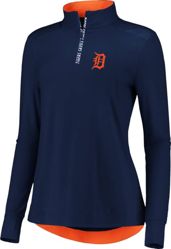 Fanatics Women's Detroit Tigers Navy Iconic Long Sleeve Quarter-Zip Shirt product image