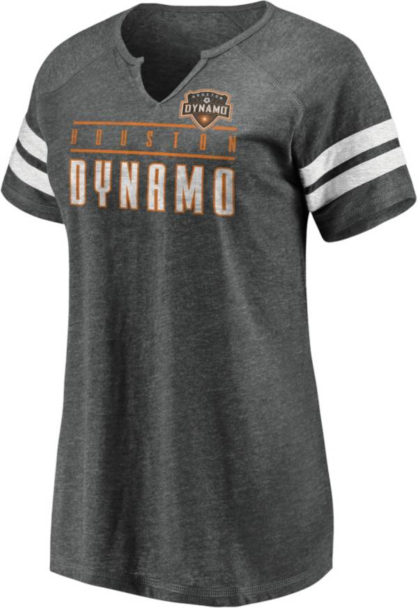 MLS Women's Houston Dynamo Grey Notch Neck T-Shirt product image
