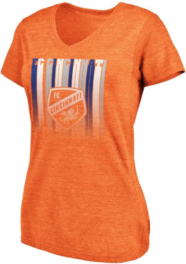 MLS Women's FC Cincinnati Fun Orange Tri-Blend T-Shirt product image