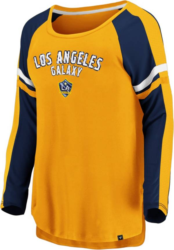 MLS Women's Los Angeles Galaxy Blocked Yellow Long Sleeve Shirt product image