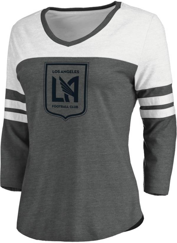 MLS Women's Los Angeles FC Grey Three-Quarter Sleeve T-Shirt product image
