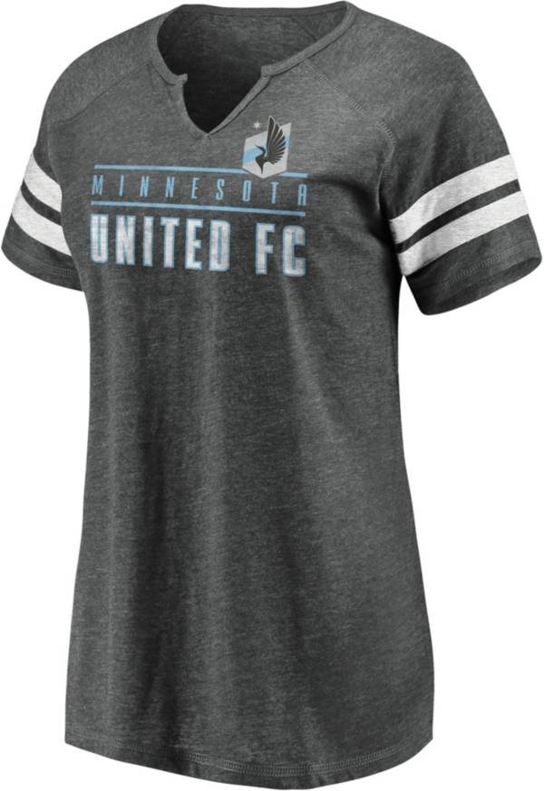 MLS Women's Minnesota United FC Grey Notch Neck T-Shirt product image