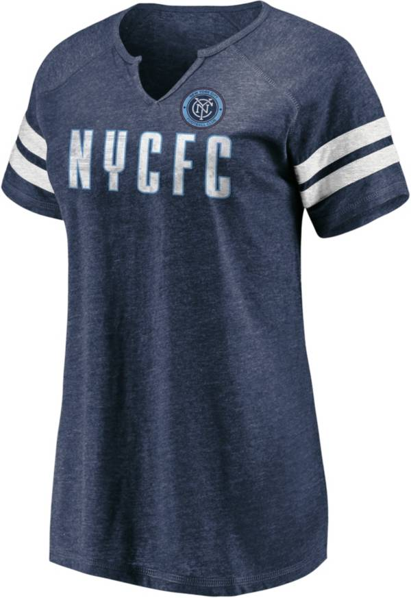 MLS Women's New York City FC Navy Notch Neck T-Shirt product image