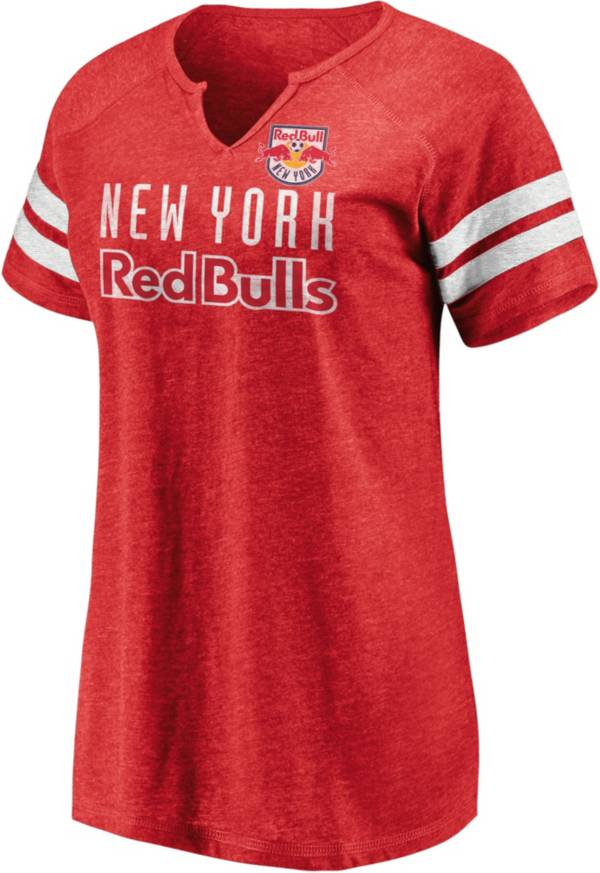 MLS Women's New York Red Bulls Red Notch Neck T-Shirt product image