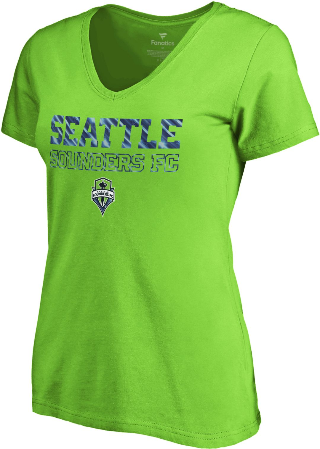 outlet store e6315 95608 MLS Women's Seattle Sounders Vision Green V-Neck T-Shirt