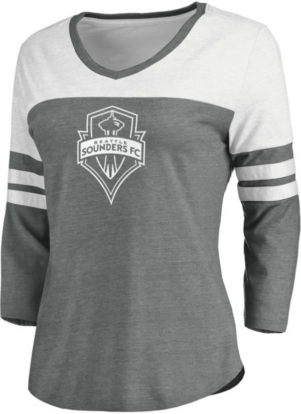 MLS Women's Seattle Sounders Grey Three-Quarter Sleeve T-Shirt product image