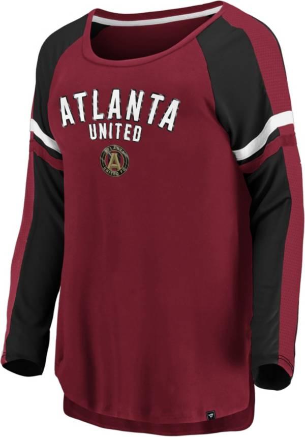 MLS Women's Atlanta United Blocked Red Long Sleeve Shirt product image