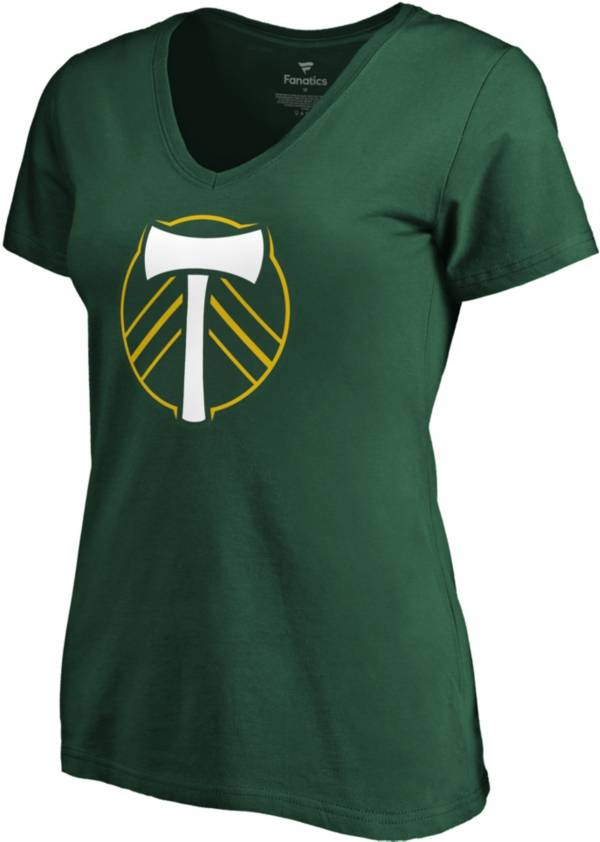 MLS Women's Portland Timbers Primary Logo Green V-Neck T-Shirt product image