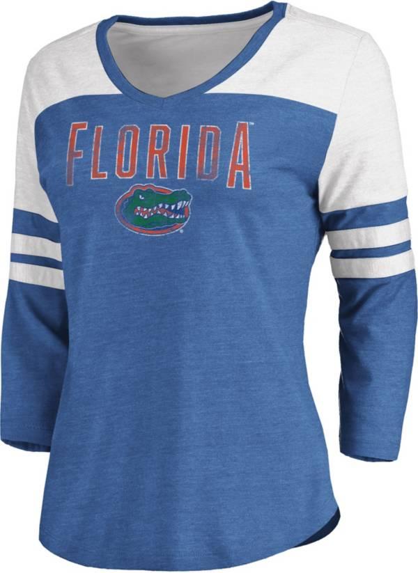 NCAA Women's Florida Gators Blue True Classics ¾ Sleeve T-Shirt product image