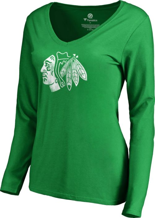824046d5a NHL Women's 2019 St. Patrick's Day Chicago Blackhawks Logo Green Long  Sleeve Shirt | DICK'S Sporting Goods