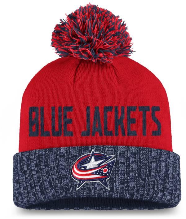 NHL Women's Columbus Blue Jackets Navy Pom Knit Beanie product image