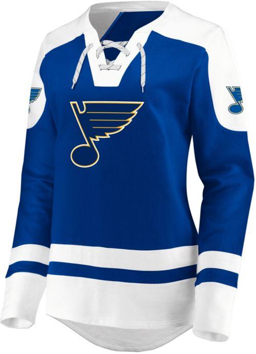 d3f428d4 NHL Women's St. Louis Blues Lace Up Royal Pullover Sweatshirt.  noImageFound. Previous