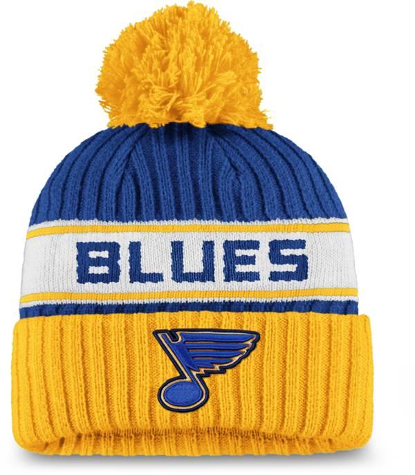 NHL Women's St. Louis Blues Authentic Pro Royal Pom Knit Beanie product image