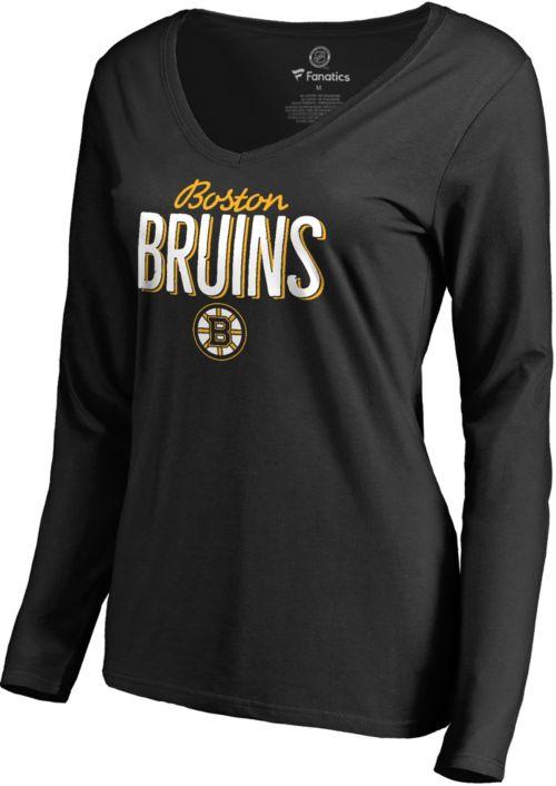 NHL Women s Boston Bruins Nostalgia Black Long Sleeve Shirt  c4db6dbeb