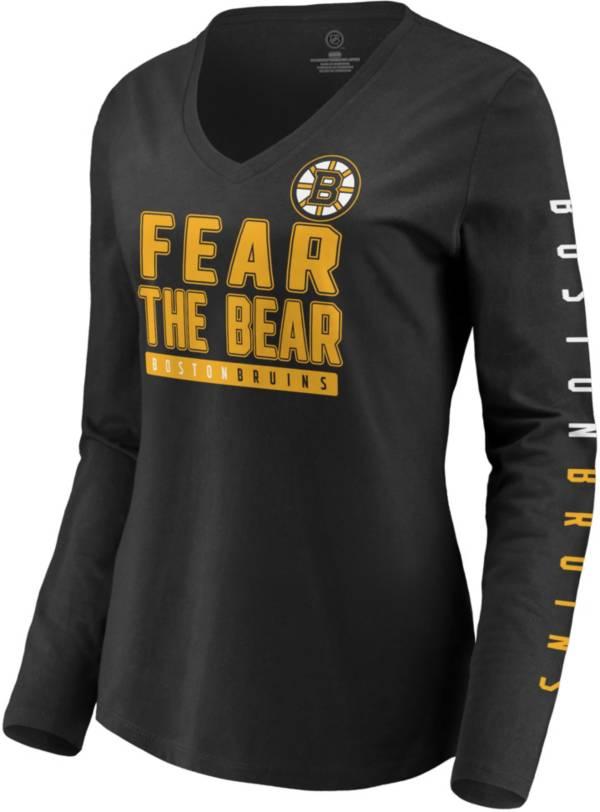 NHL Women's Boston Bruins Slogan Black Long Sleeve T-Shirt product image