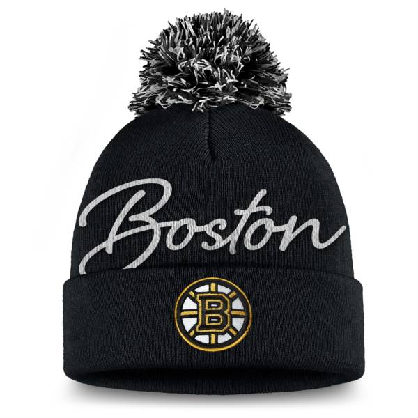 NHL Women's Boston Bruins Exclusive Black Pom Knit Beanie product image