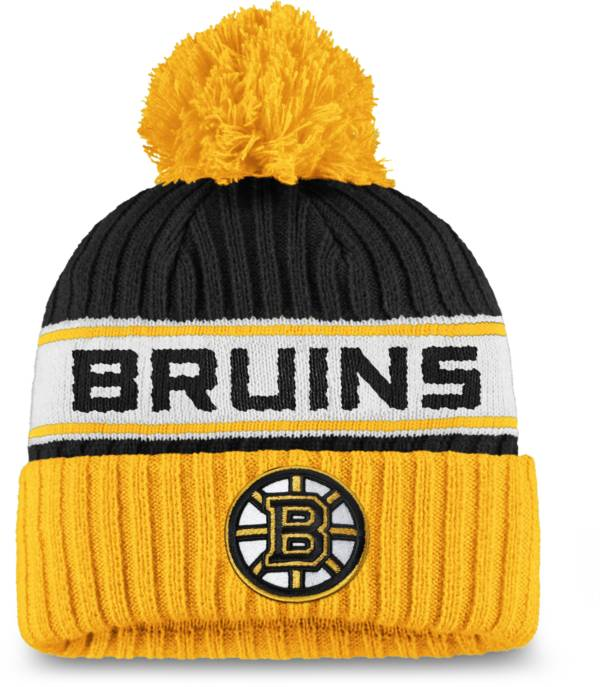 NHL Women's Boston Bruins Authentic Pro Black Pom Knit Beanie product image