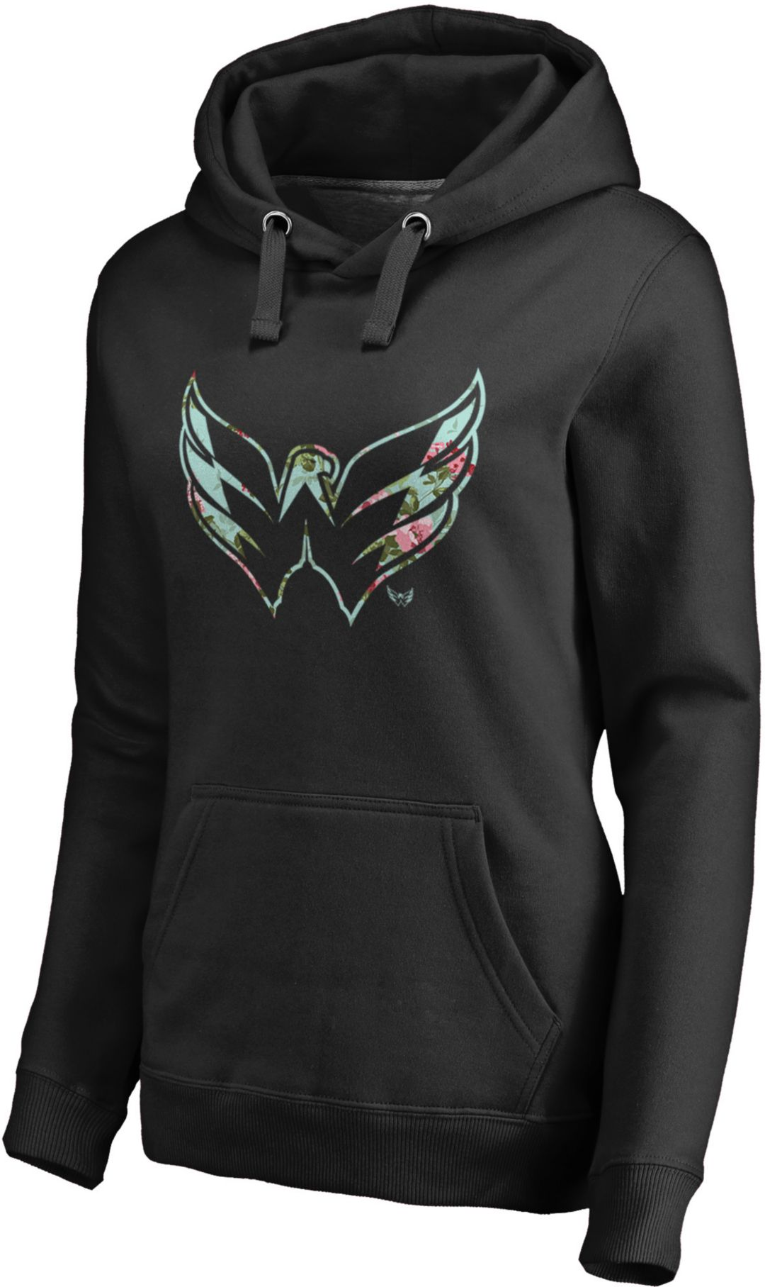 best loved c62b1 6f766 NHL Women's Washington Capitals Lovely Black Pullover Hoodie