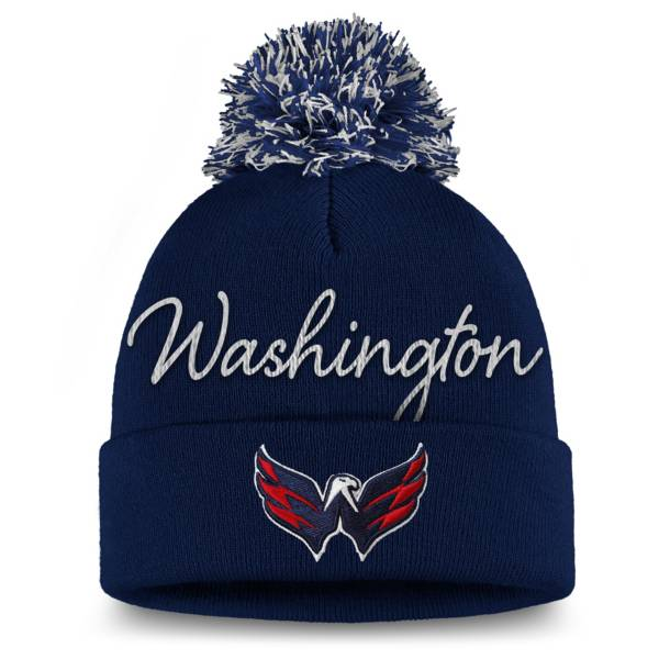 NHL Women's Washington Capitals Exclusive Navy Pom Knit Beanie product image