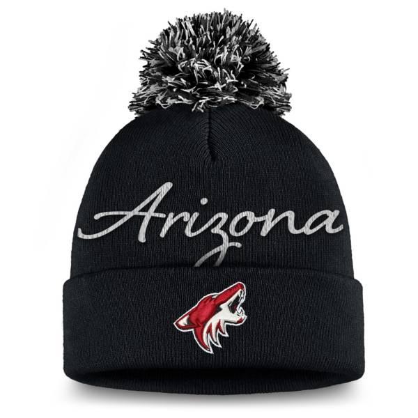 NHL Women's Arizona Coyotes Exclusive Black Pom Knit Beanie product image