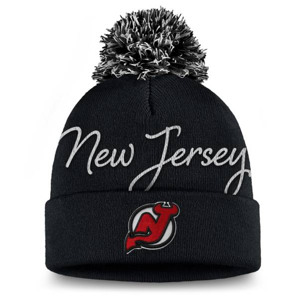 NHL Women's New Jersey Devils Exclusive Black Pom Knit Beanie product image