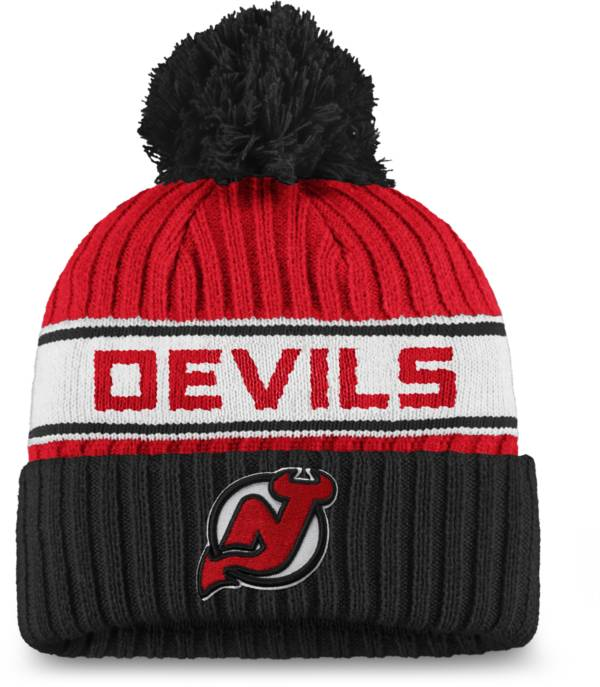 NHL Women's New Jersey Devils Authentic Pro Red Pom Knit Beanie product image
