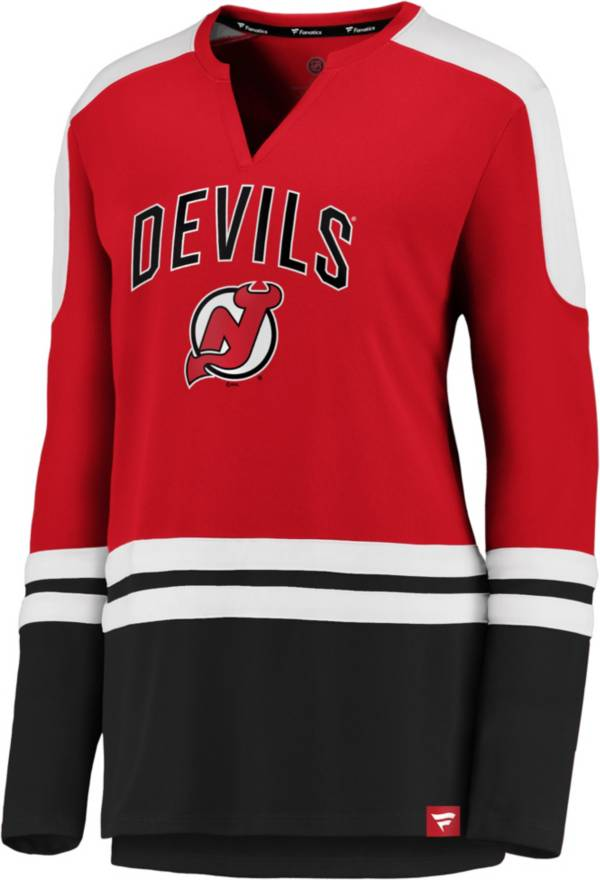 NHL Women's New Jersey Devils Slapshot Red Long Sleeve T-Shirt product image