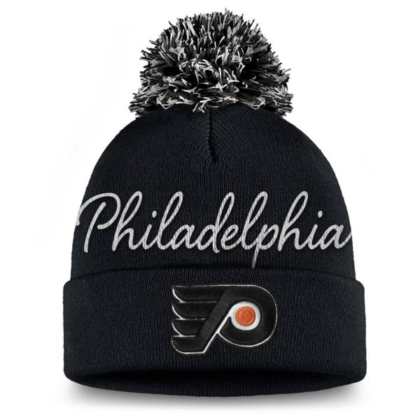 NHL Women's Philadelphia Flyers Exclusive Black Pom Knit Beanie product image
