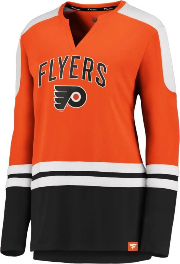NHL Women's Philadelphia Flyers Slapshot Orange Long Sleeve T-Shirt product image