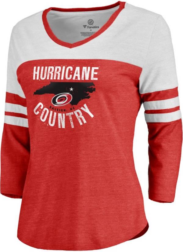 NHL Women's Carolina Hurricanes Century Red Long Sleeve T-Shirt product image