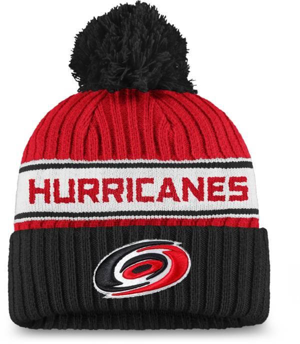 NHL Women's Carolina Hurricanes Authentic Pro Red Pom Knit Beanie product image
