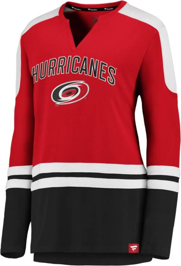 NHL Women's Carolina Hurricanes Slapshot Red Long Sleeve T-Shirt product image