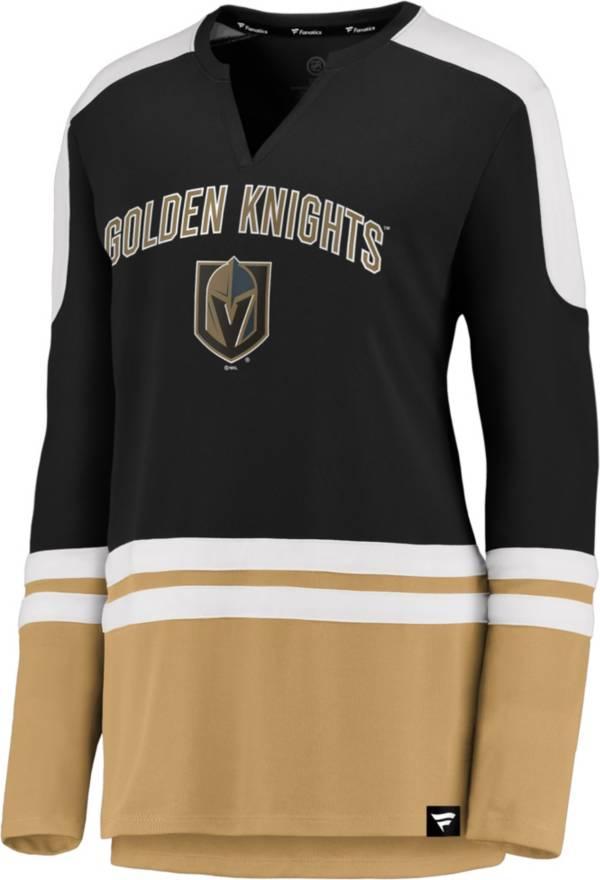 NHL Women's Las Vegas Golden Knights Slapshot Black Long Sleeve T-Shirt product image